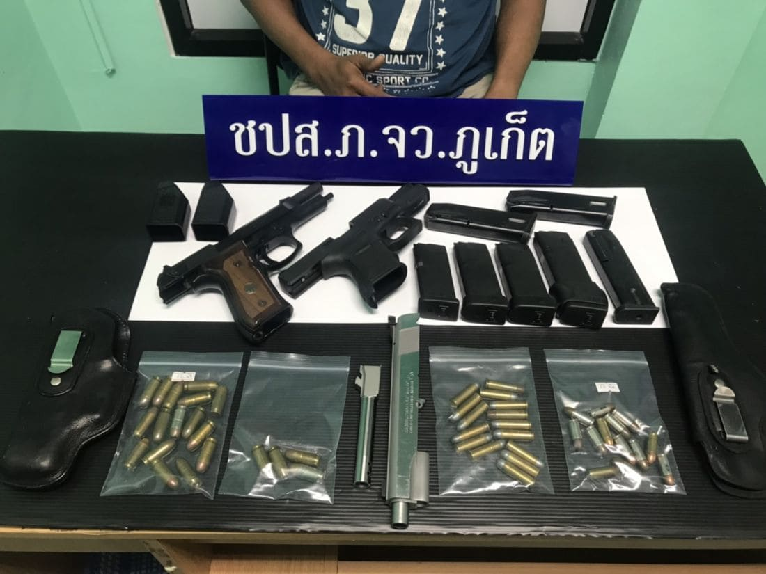 Eight arrested with drugs and firearms in Phuket | The Thaiger