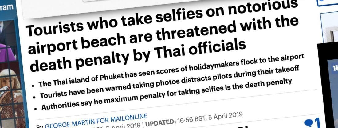 Phuket's perfect plane-spotting selfie   News by Thaiger