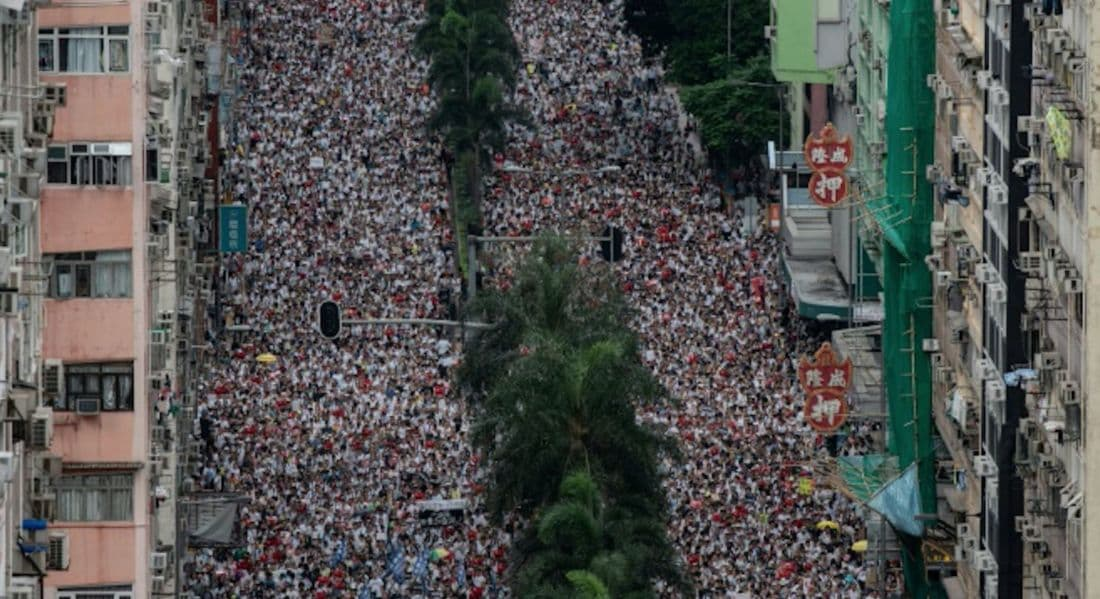 One million come out to protest in Hong Kong over China's new extradition law | News by The Thaiger