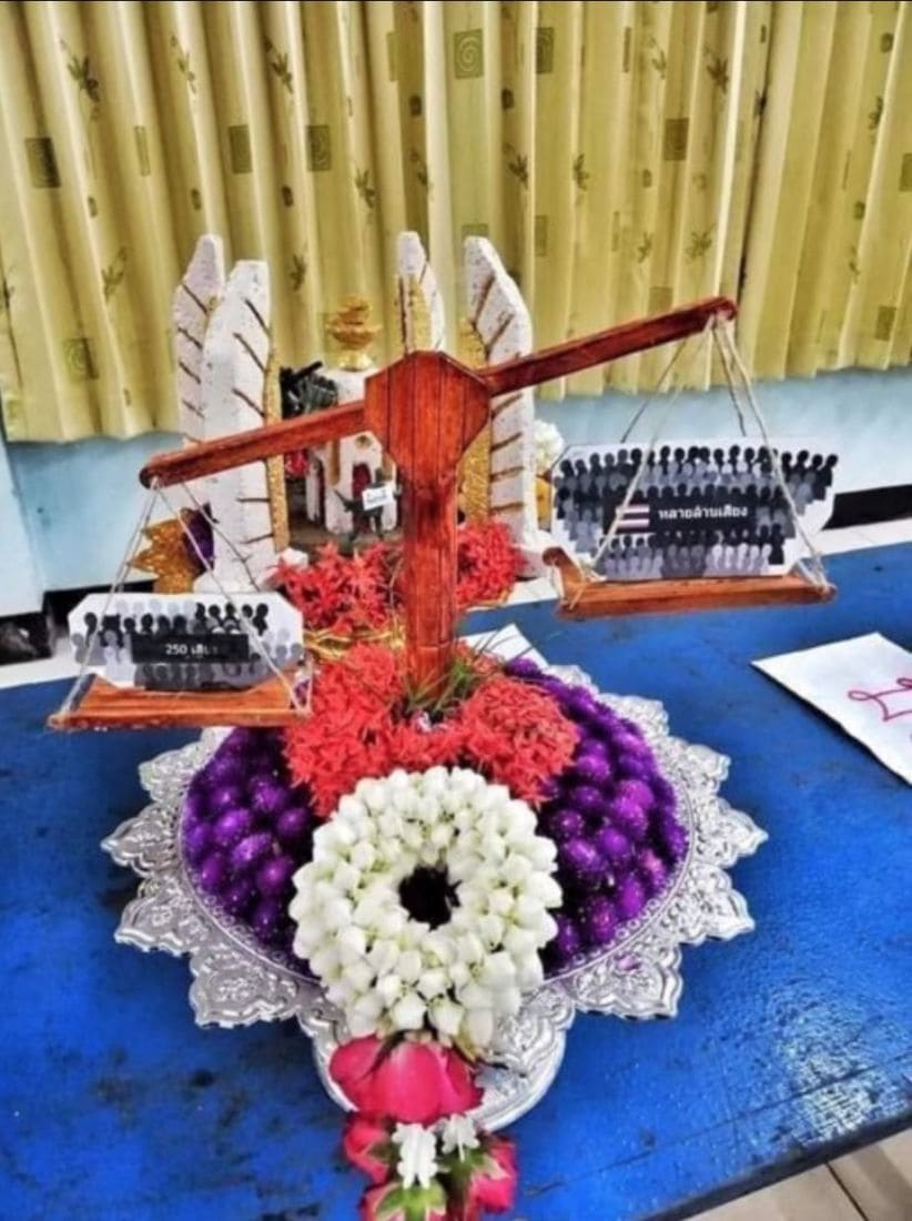 Some secondary students use Wai Khru to make 'controversial' floral tributes | News by Thaiger