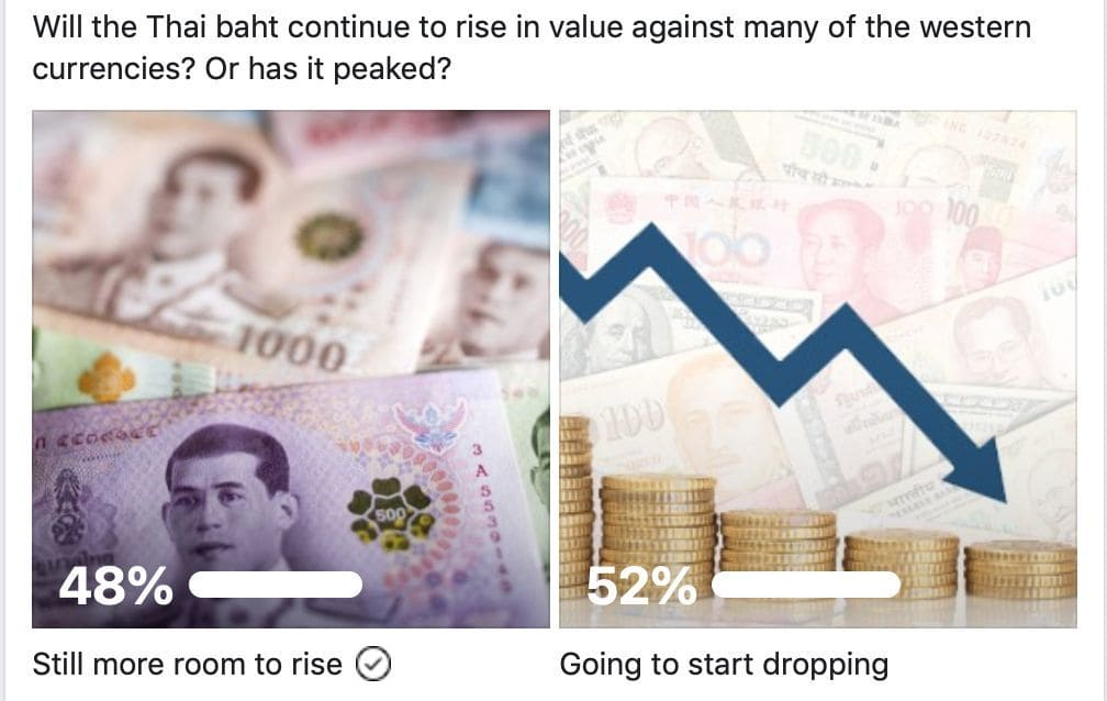 Poll – Will the Thai Baht rise or fall (compared to other currencies)? | Thaiger