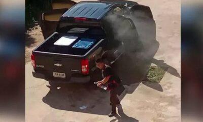 กระบะจอดตากแดด ร้อนจนไฟลุก | The Thaiger