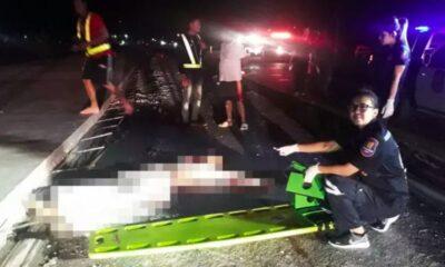 ชนแท่งแบริเออร์ดับ 2 ศพในคืนเดียวบนถนนระยอง-กระทิงลาย | The Thaiger