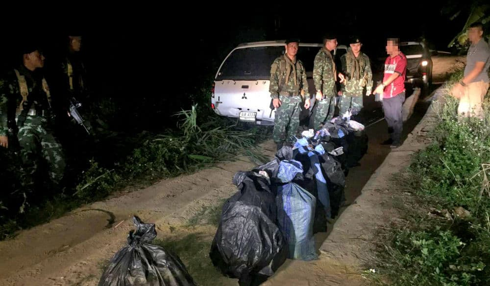 Drug smugglers get away but police seize their pickup stuffed with meth pills and 'ice' | The Thaiger