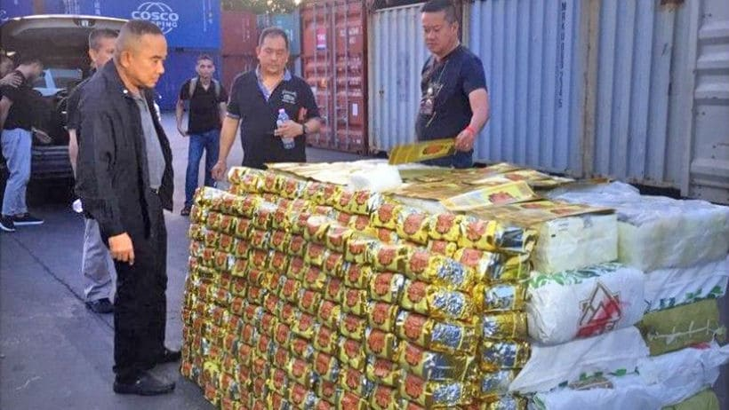 Two Chinese and two Thais arrested over huge 'ice' haul | The Thaiger
