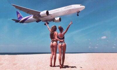 Phuket's perfect plane-spotting selfie   The Thaiger