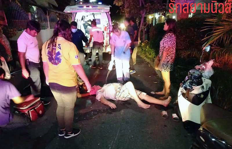 Thai lady fusses over scratch on car while Frenchman lies injured on the road   News by Thaiger