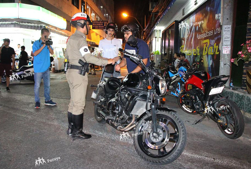 Pattaya police crackdown on middle eastern bike renters
