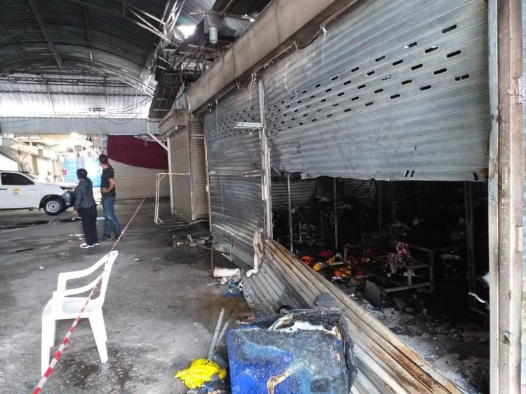 Fire destroys 12 shops in Patong market   News by Thaiger