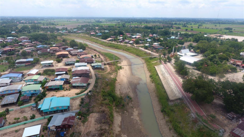 North-central Thailand's Yom River in Phichit runs low