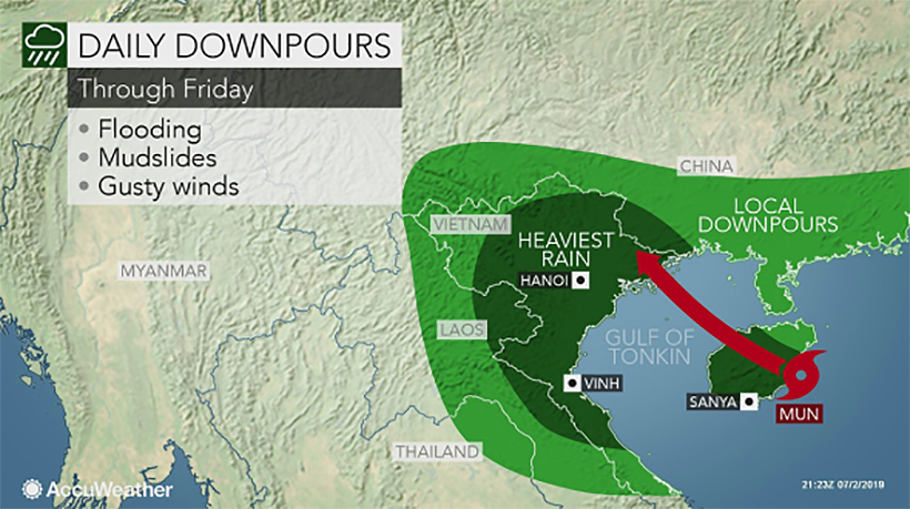 Tropical storm 'Mun' to affect north and north-east Thailand | Thaiger