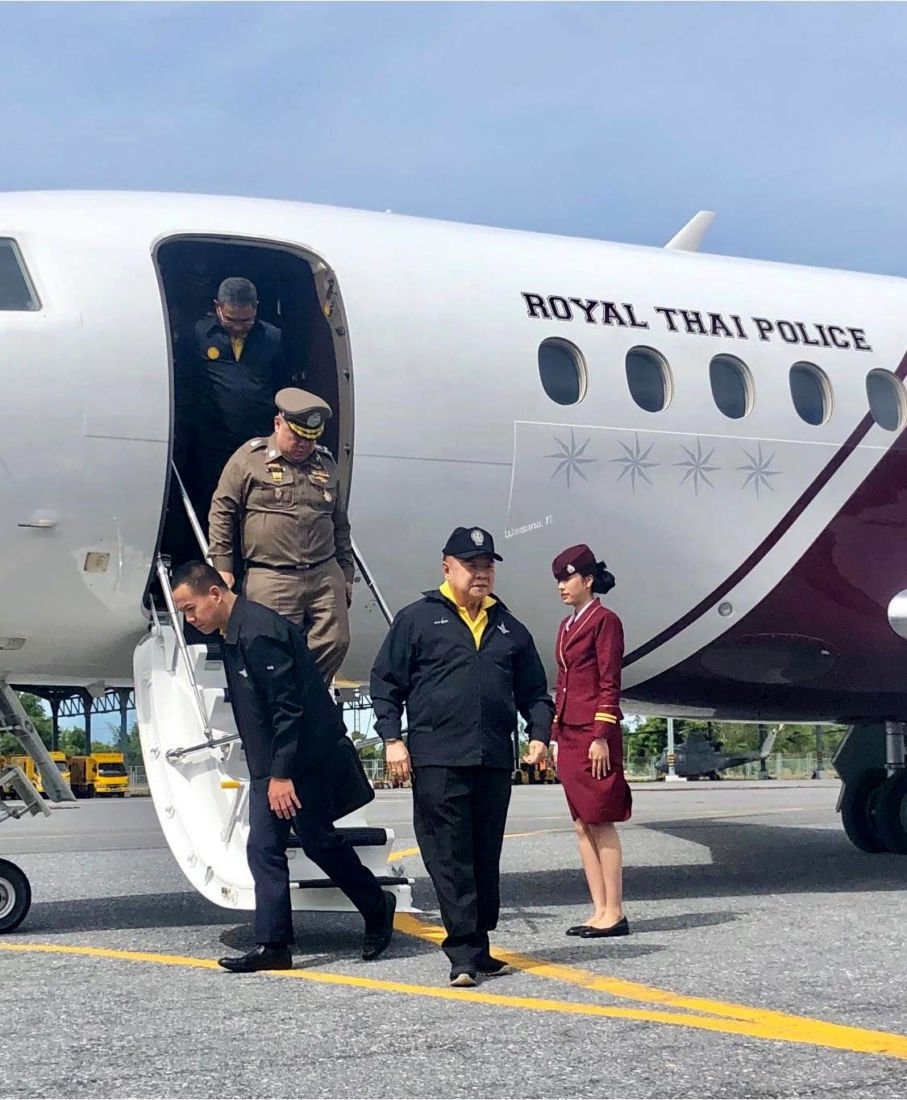 Police say posh private plane is not just for Prawit | News by Thaiger