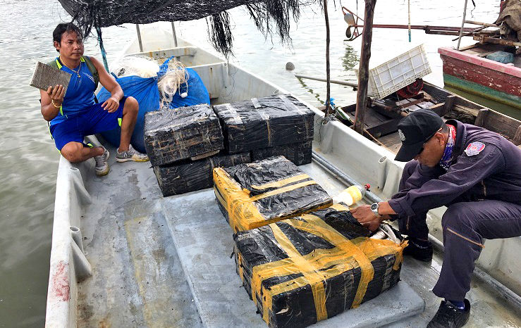 Satun fisherman arrested trying to ship 216 kilos of marijuana south to Malaysia | The Thaiger