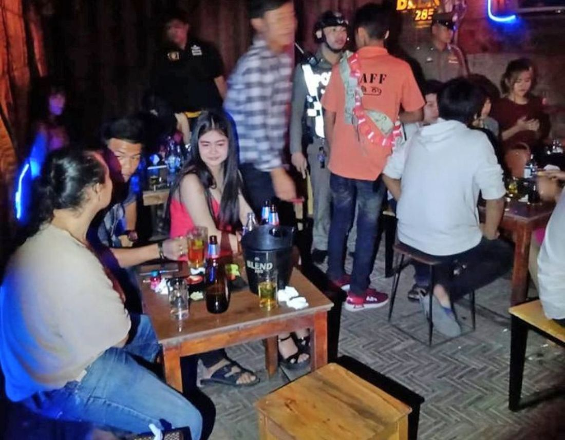 Pattaya police inspect three local bars following resident complaints