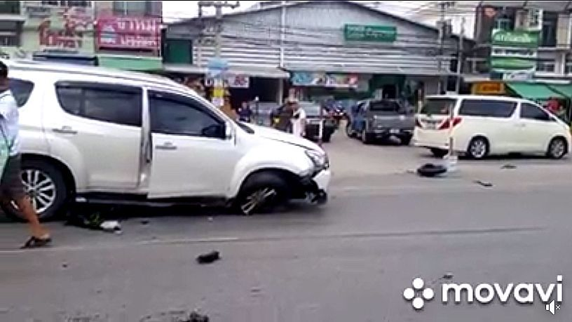 Chiang Mai teenager survives big bike collision but loses leg - VIDEO   News by Thaiger