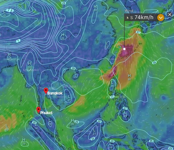 TMD issues a new weather warning for tropical storm Danas   News by Thaiger
