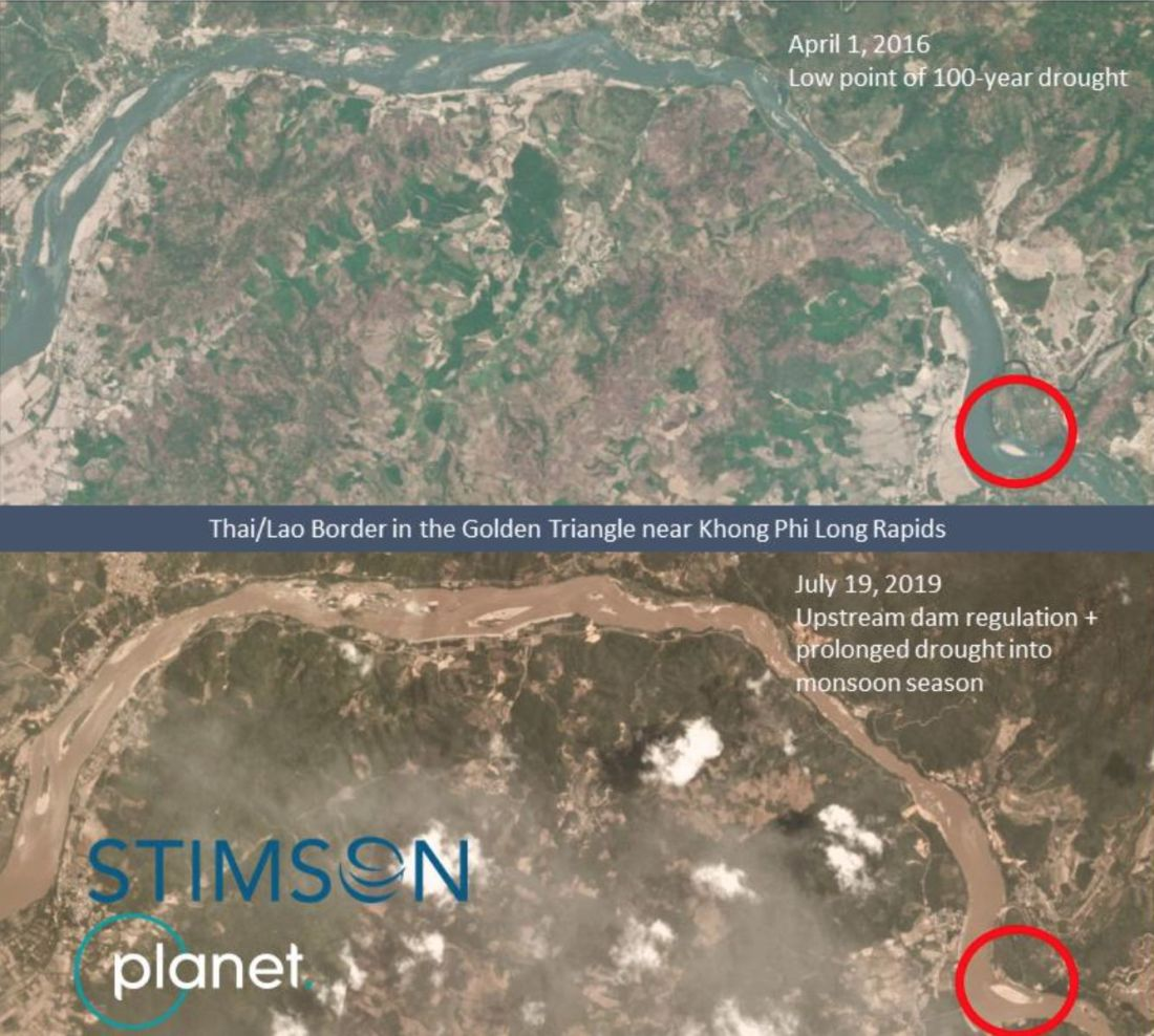 Mekong River drops to lowest level in a century around Thai, Lao, Myanmar border   News by Thaiger