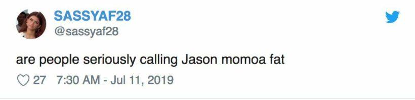 ชาวเน็ตแซว Jason Momoa หุ่นพัง หลังมีภาพหลุดเดินพุงพลุ้ยขณะพักร้อน   News by The Thaiger