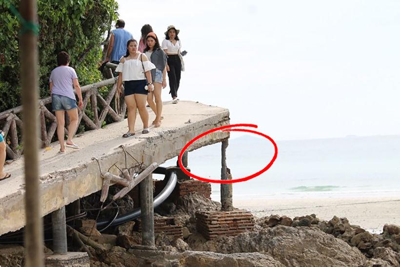 Koh Larn locals urge Pattaya officials to fix their coastal bridge
