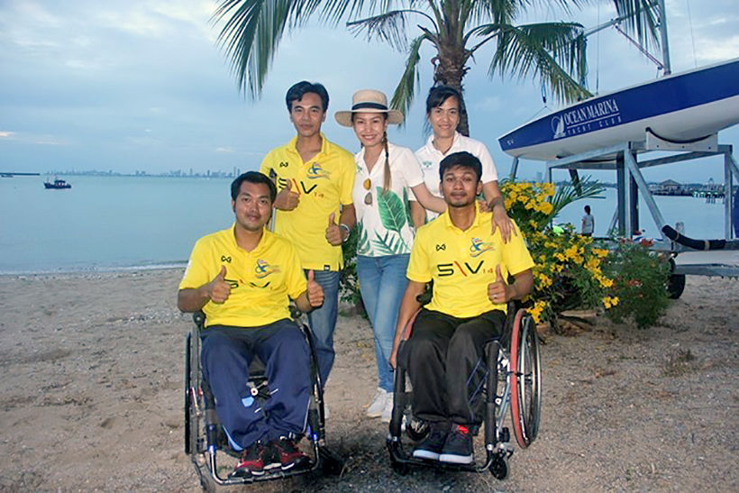 Pattaya fund-raiser donates 10,000 baht for disabled sailing
