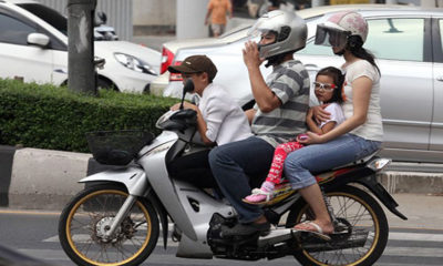 Most Thai motorcycle riders don't wear crash helmets | The Thaiger