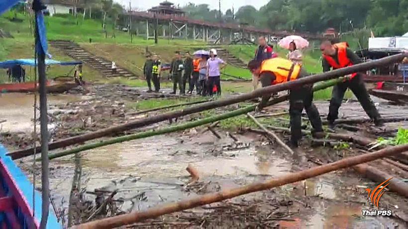 Thailand's longest wooden bridge under threat of collapse after rains soak west | News by Thaiger