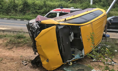Koh Samui taxi driver killed, two tourists taken to hospital | Thaiger