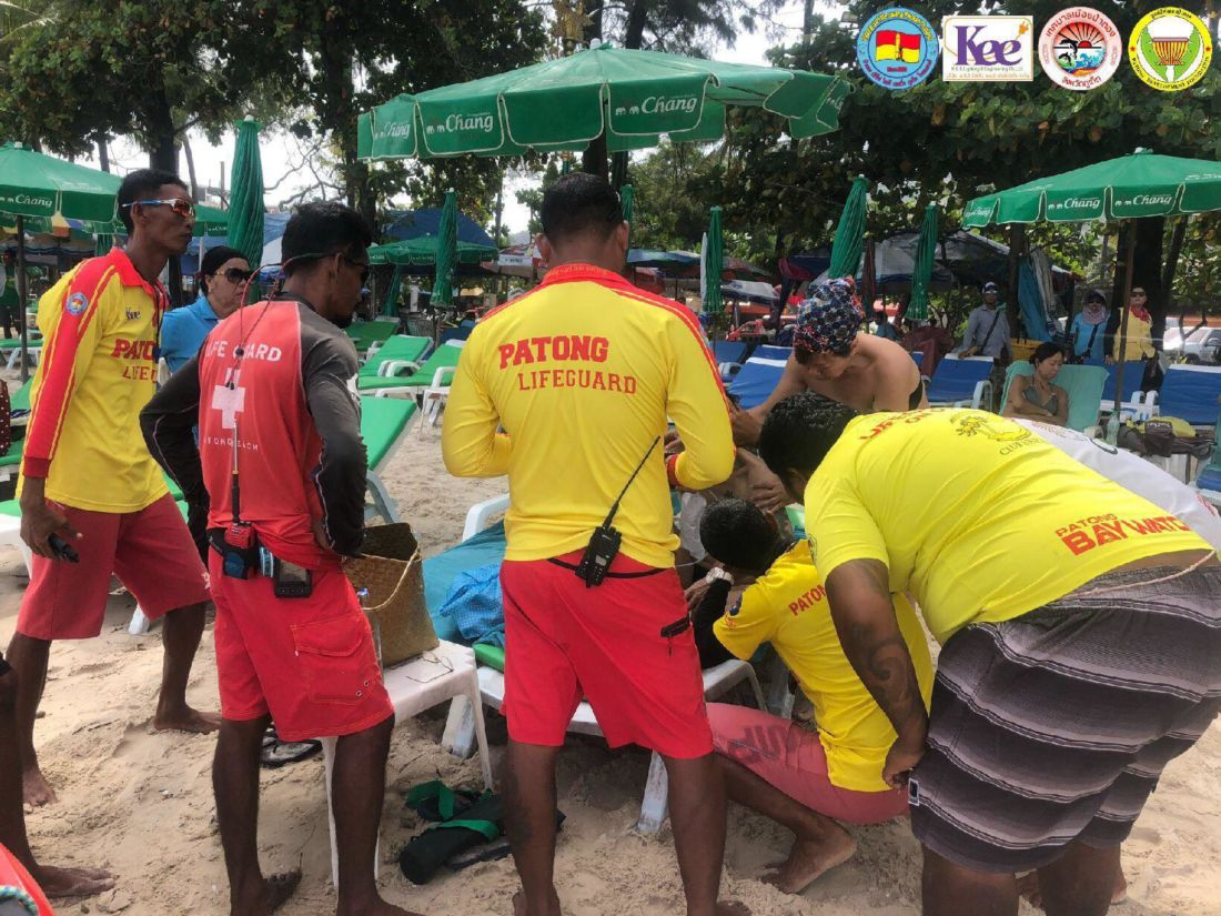Chinese tourist almost drowns after ignoring warnings from lifeguards at Patong | News by Thaiger