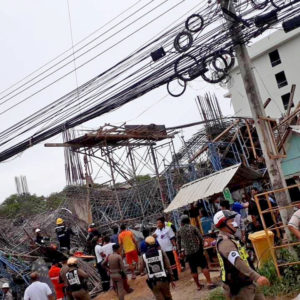Three storey construction site collapses in Rawai, Phuket - 8 injured, 2 missing   News by Thaiger
