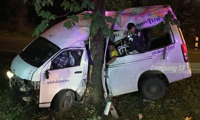 Two Burmese migrants killed in Lampang van crash, 7 others injured | Thaiger