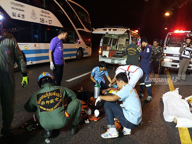 Two Burmese migrants killed in Lampang van crash, 7 others injured   News by Thaiger