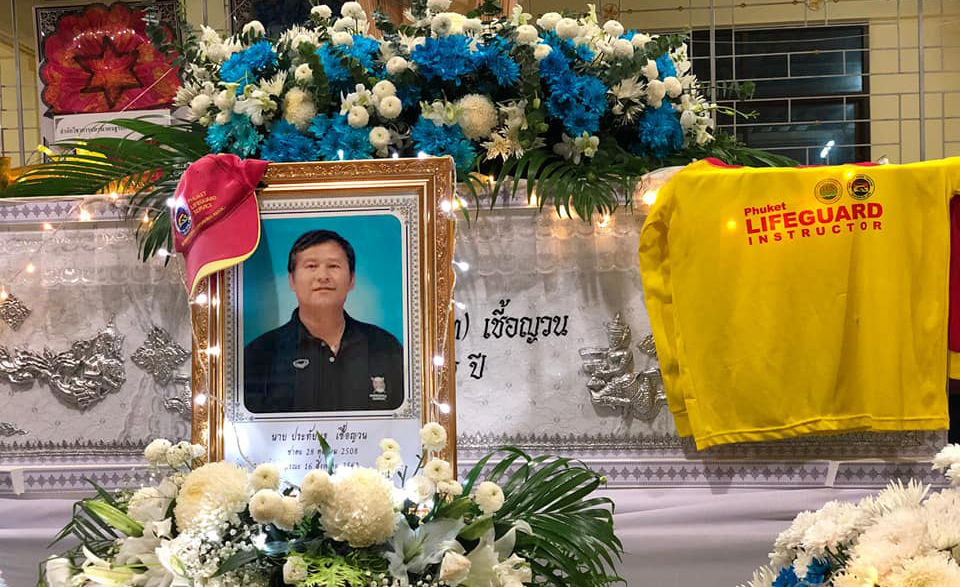 Phuket's lifeguards say goodbye to a champion of local beach safety