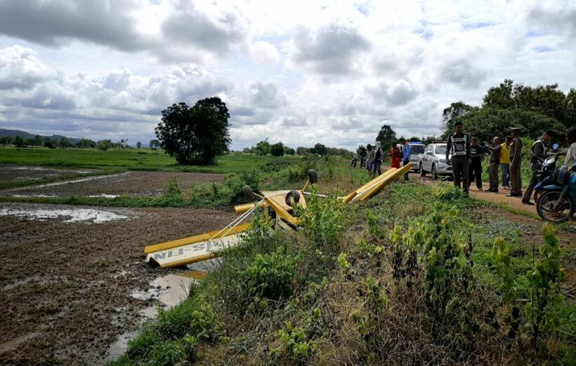 Light plane crash lands in Sukhothai | News by Thaiger