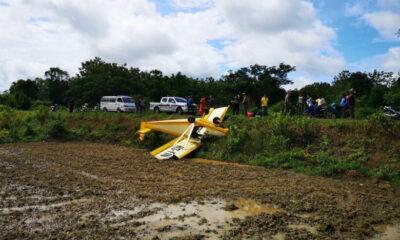 Light plane crash lands in Sukhothai | Thaiger