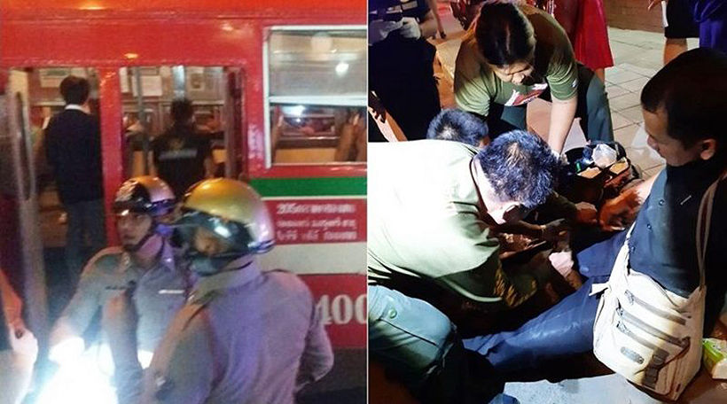 Bangkok bus passenger blows a fuse and stabs another passenger | The