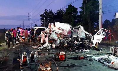 11 die in early morning passenger van collision in Sa Kaew | Thaiger