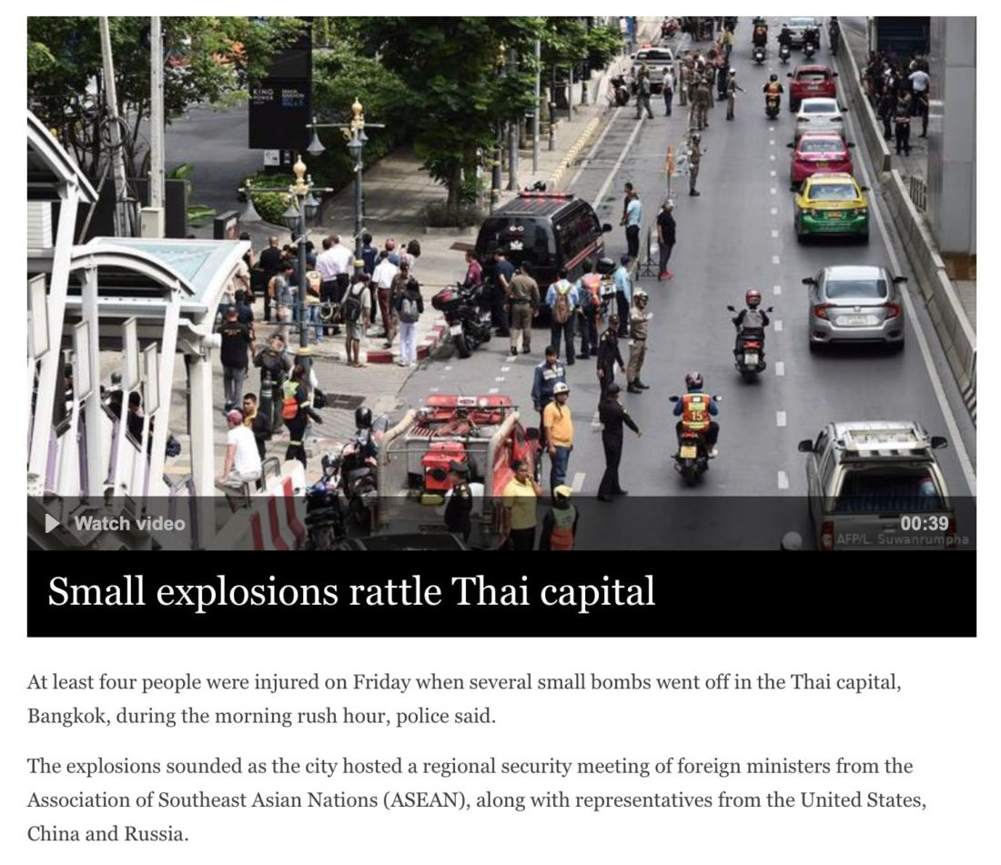 Southern insurgents likely behind the Bangkok bombings - Deputy PM Prawit | News by Thaiger