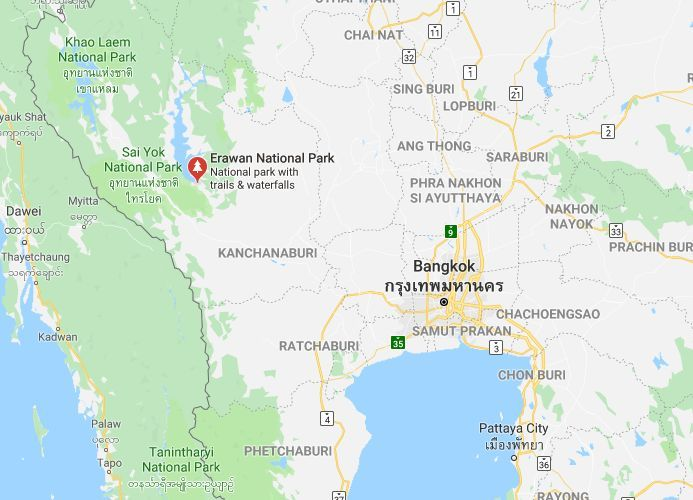 Parts of Erawan Waterfall closed as tourists injured   News by Thaiger