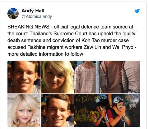 Burmese Koh Tao murder 'guilty' conviction upheld by Thai Supreme Court   News by Thaiger