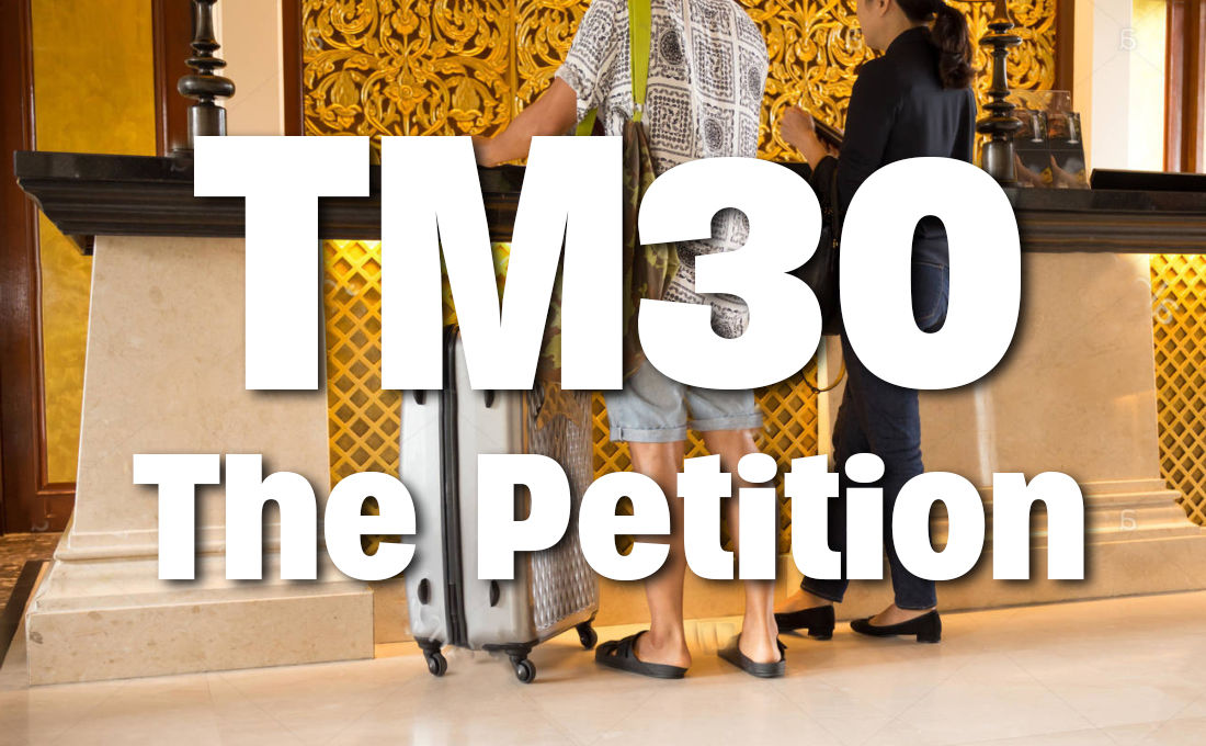 Organisers meet with immigration over TM30 petition - full report