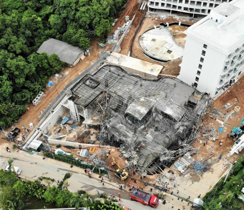 Scaffolding collapse at VIP Mercury Condominium in Rawai, Phuket kills 1 | News by Thaiger