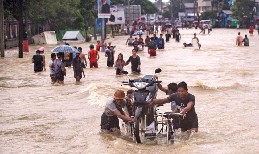 Myanmar flood toll reaches 51 - 4,000 houses submerged   News by Thaiger