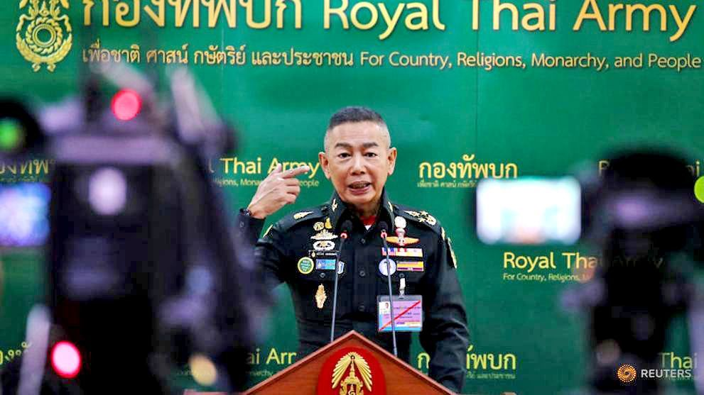 Thai Army chief writing a thesis about the spread of 'fake