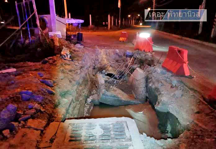 """Pattaya tourists comes off motorcycle at """"badly lit"""" roadworks 