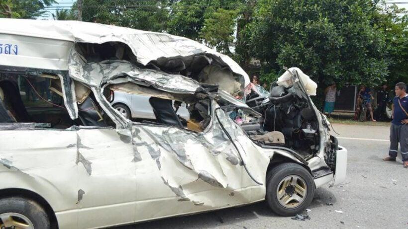 Five killed in Sa Kaew passenger van crash | News by Thaiger