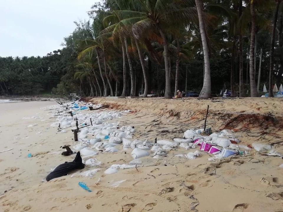 Phuket's Surin Beach's anti-erosion walls fails causing another environmental disaster   News by Thaiger