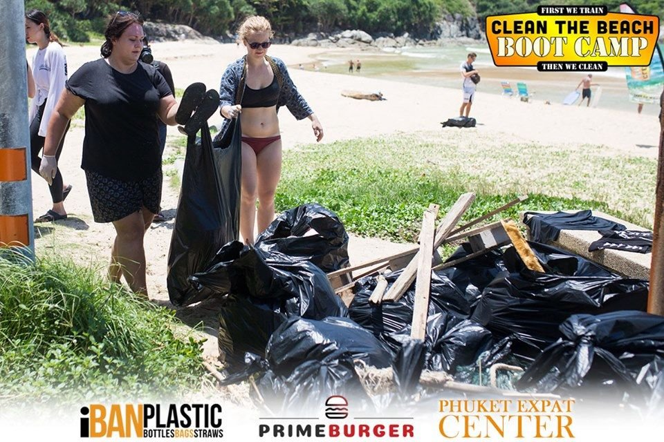 Clean the Beach Boot Camp takes on Nai Harn Beach on World Clean Up Day   News by Thaiger