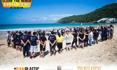 Clean the Beach Boot Camp takes on Nai Harn Beach on World Clean Up Day | Thaiger