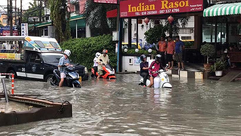 Pattaya down the drain - big rains hit the city | News by Thaiger