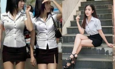 Thai school girls – longer skirts, bigger blouses | Thaiger